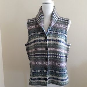 Chaps | Shawl collar blanket inspired sweater vest
